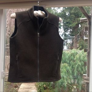 Ibex brown merino wool vest small, used for sale